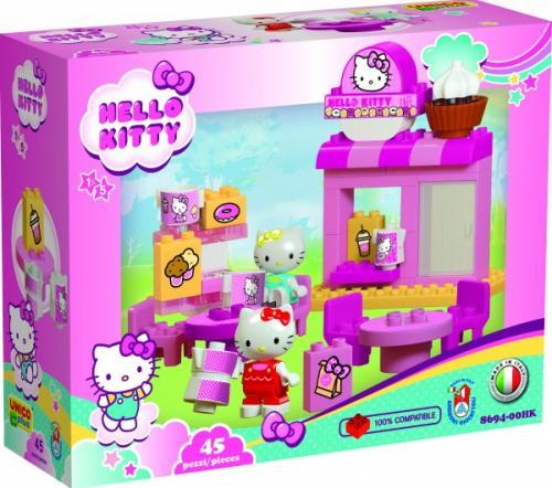 Set petru copii Caffe Bar Hello Kitty Unico 45 piese - Jucarii copilasi - Jucarii de constructie