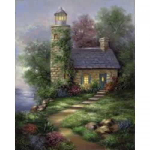 Set pictura artistica pe panza - Far romantic - Rechizite - Pictura si desen