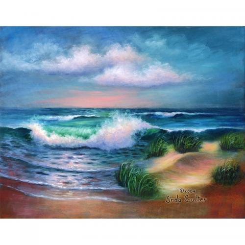Set pictura artistica pe panza - Plaja HAMPTON - Rechizite - Pictura si desen