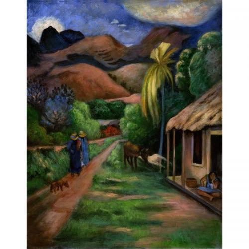 Set pictura pe panza - Drum montan - Rechizite - Pictura si desen