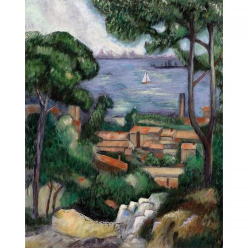 Set pictura pe panza - Vila pe coasta (LEstaque a villa) - Rechizite - Pictura si desen