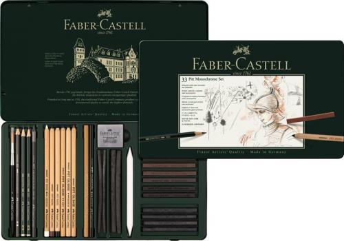 Set Pitt Monochrome Grafit+carbune+pastel 33 Buc Faber-castell - Rechizite - Pictura si desen