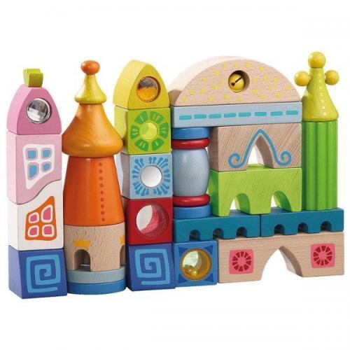 Set Premium de Cuburi din Lemn - Sevilla - Jucarii copilasi - Jucarii de constructie