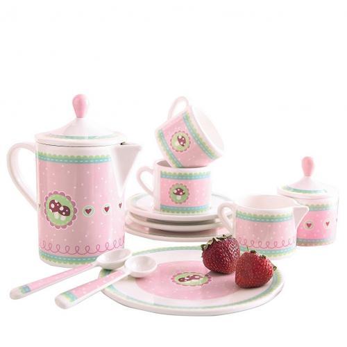 Set premium roz pentru ora ceaiului Ciupeca norocoasa - Jucarii copilasi -