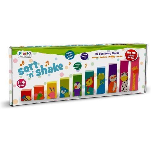 Set Sorteaza si Scutura - Sort N Shake Fiesta Crafts FCT-2397 - Jucarii copilasi - Jucarii educative bebe