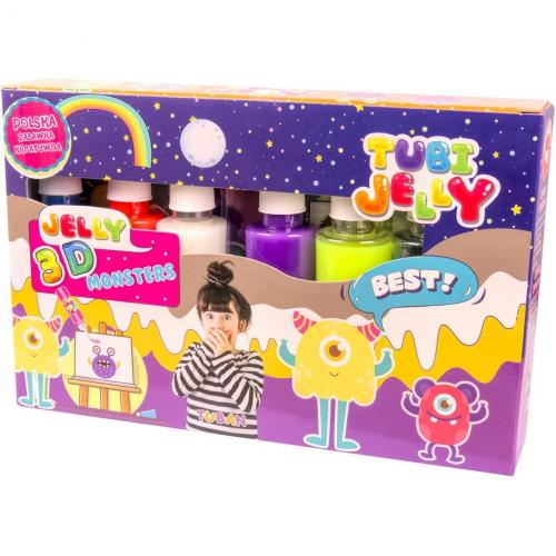 Set Tubi Jelly cu 6 culori - Monstri Tuban TU3324 - Jucarii copilasi - Arta indemanare