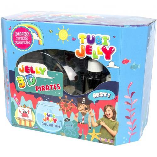 Set Tubi Jelly cu 8 culori si un acvariu mare - Pirati Tuban TU3332 - Jucarii copilasi - Arta indemanare