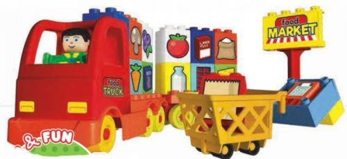 Set unico camion cu o figurina 40 piese - Jucarii copilasi - Jucarii de constructie