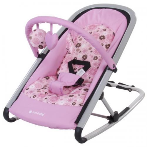 Sezlong sun baby komfi rose - Camera bebelusului - Leagane si balansoare