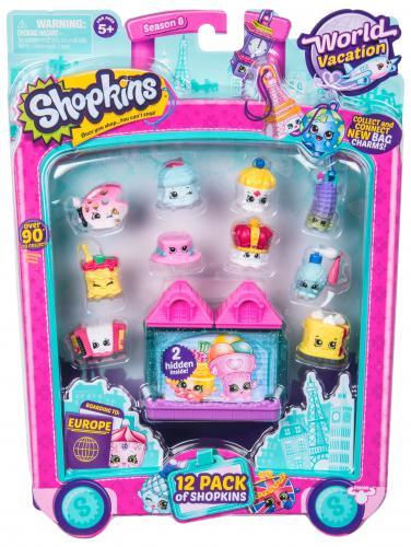 Shopkins - pachet 12 figurine - colectia Europa Pink - Jucarii copilasi - Figurine pop