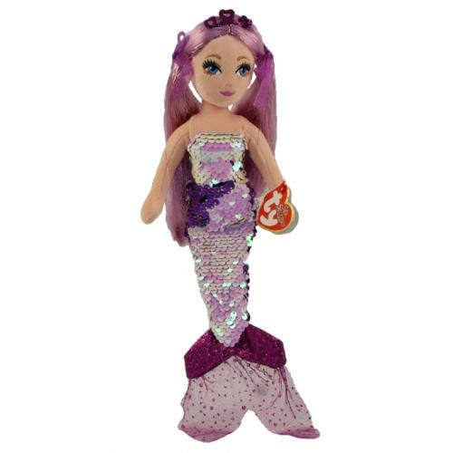 Sirena cu paiete maro - GINGER (27 cm) - Ty - Papusi ieftine -