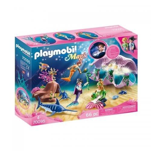 Sirene Cu Cochilie Si Perle Luminate - Jucarii Playmobil -