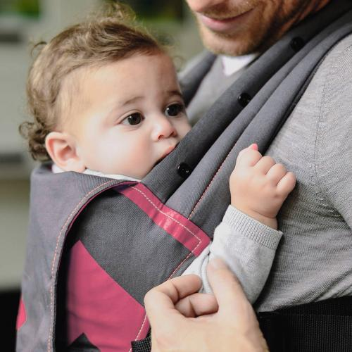 Sistem de purtare Venture+ Bubblegum/Charcoal Zigzag - Plimbare bebe - Marsupiu bebelusi