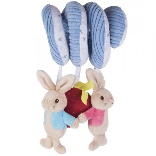 Spirala din plus pentru activitati peter rabbit & flopsy bunny - 26 cm - Jucarii copilasi - Jucarii din plus
