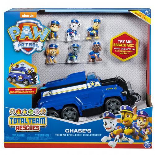 Super masina de politie chase cu 6 catelusi - Jucarii copilasi - Figurine pop