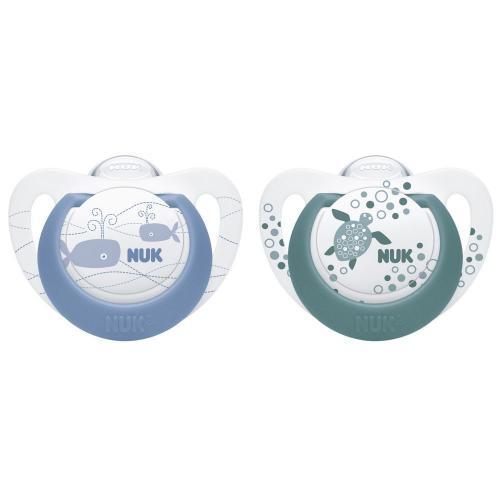 Suzeta Nuk Genius Color Silicon M2 Blue 6-18 luni Set 2 Bucati - Hrana bebelusi - Suzeta bebe