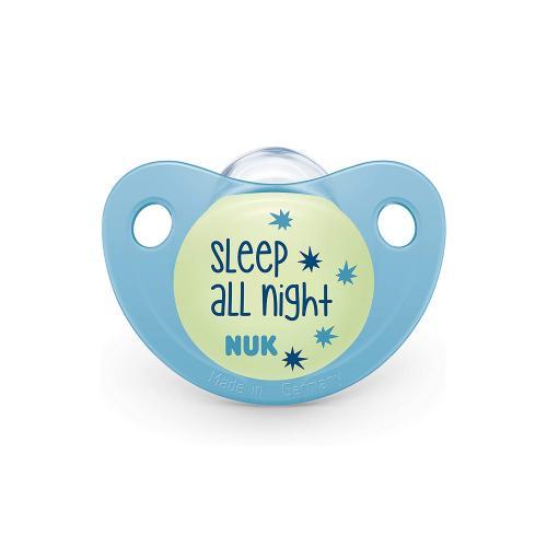 Suzeta Nuk Night & Day Silicon M3 Bleu 18-36 luni - Hrana bebelusi - Suzeta bebe