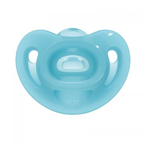 Suzeta Nuk Sensitive Silicon M2 Bleu 6-18 luni - Hrana bebelusi - Suzeta bebe