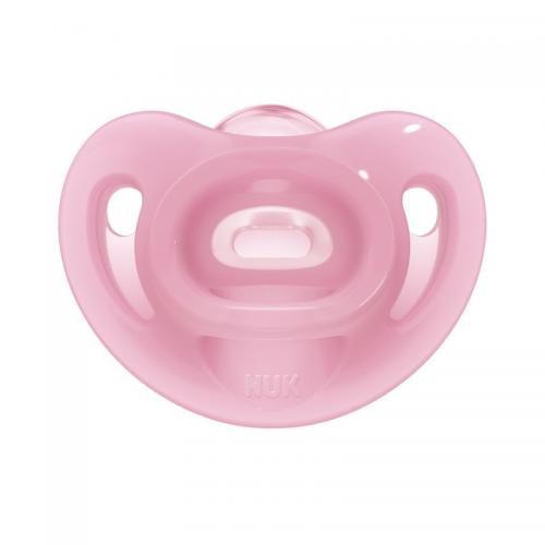 Suzeta Nuk Sensitive Silicon M2 Roz 6-18 luni - Hrana bebelusi - Suzeta bebe