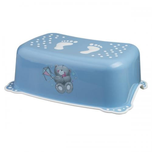 Taburet copii MyKids Bears Blue-White antialunecare - Igiena ingrijire - Olita bebe