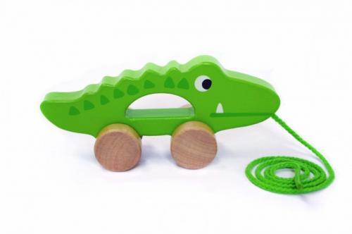 Tooky Toy Crocodil de tras - Jucarii Montessori -