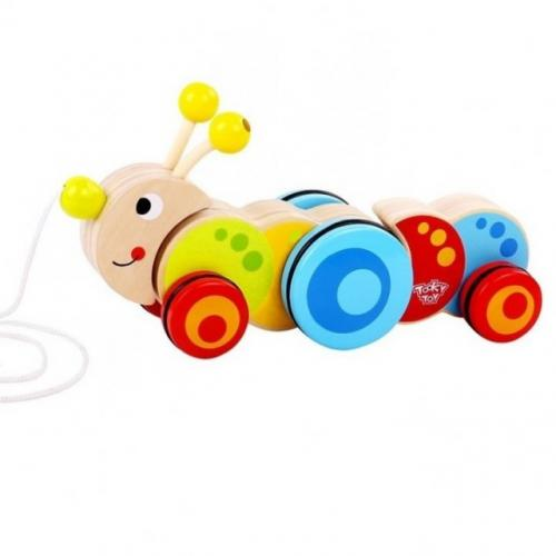 Tooky Toy Jucarie de tras Omida - Jucarii Montessori -