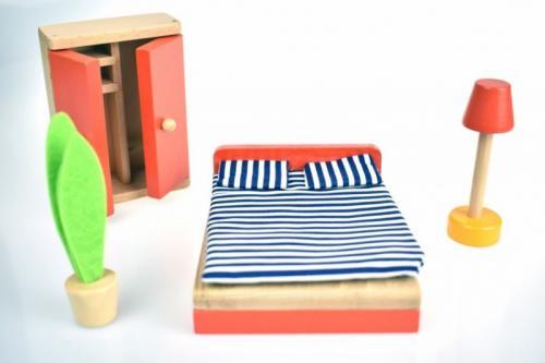 Tooky Toy Mobila dormitor mini - Jucarii Montessori -