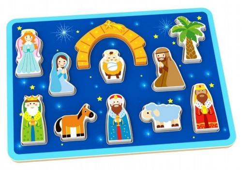 Tooky Toy Puzzle Nasterea Domnului - Jucarii Montessori -