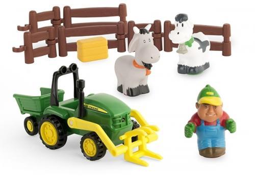Tractor cu incarcator-Biemme-43068-JOHNNY DEERE - Jucarii copilasi - Jucarie interactiva
