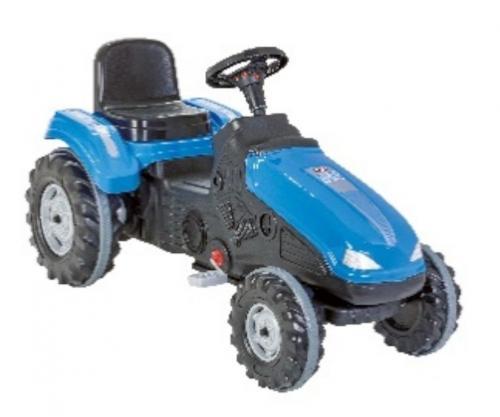 Tractor cu pedale pilsan mega albastru - Plimbare bebe - Vehicule cu pedale