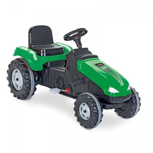 Tractor cu pedale pilsan mega verde - Plimbare bebe - Vehicule cu pedale