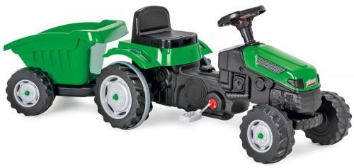 Tractor cu pedale si remorca pilsan active verde - Plimbare bebe - Vehicule cu pedale