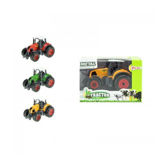 Tractor metal cu accesorii - Jucarii copilasi - Avioane jucarie