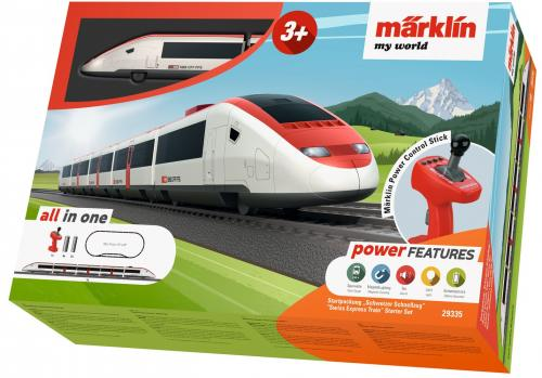 Tren de calatori cu sine si telecomanda Swiss Express - Jucarii copilasi - Jucarii telecomanda