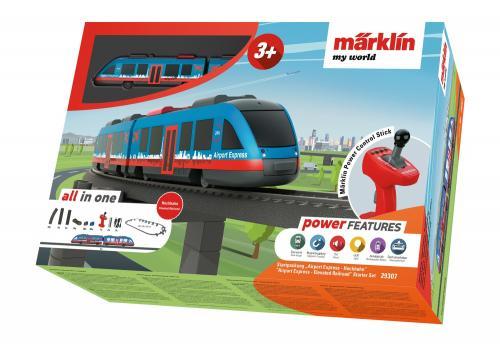 Tren de calatori cu telecomanda si accesorii Airport Express - Jucarii copilasi - Jucarii telecomanda