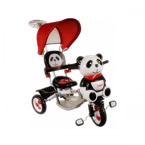 Tricicleta arti panda 2 - rosu - Plimbare bebe - Triciclete copii