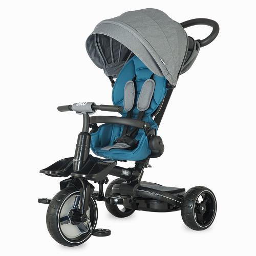 Tricicleta Coccolle Alto Multifunctionala Albastru - Plimbare bebe - Triciclete copii