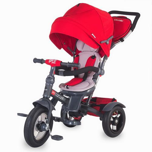 Tricicleta COCCOLLE Giro Plus multifuntionala rosu - Plimbare bebe - Triciclete copii