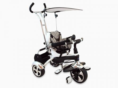 Tricicleta Copii Baby Mix Gr01 White - Plimbare bebe - Triciclete copii