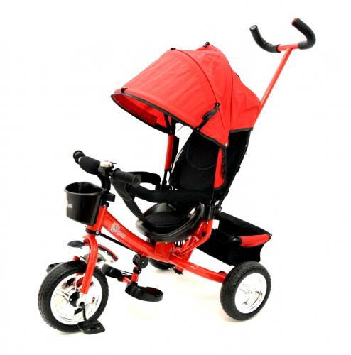 Tricicleta cu maner skutt agilis red - Plimbare bebe - Triciclete copii