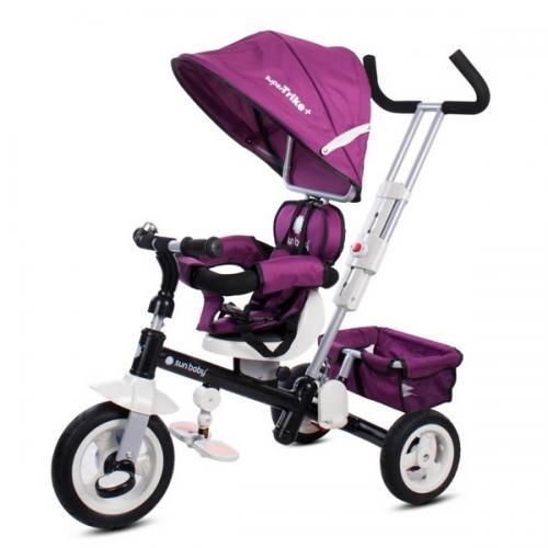 Tricicleta cu sezut reversibil sun baby 002 super trike plus burgundy - Plimbare bebe - Triciclete copii