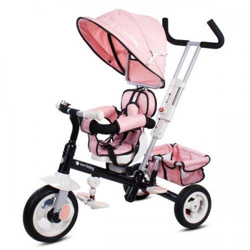 Tricicleta cu sezut reversibil sun baby 002 super trike plus pink - Plimbare bebe - Triciclete copii