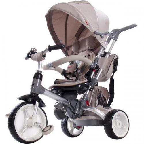 Tricicleta cu sezut reversibil sun baby 007 little tiger - beige - Plimbare bebe - Triciclete copii
