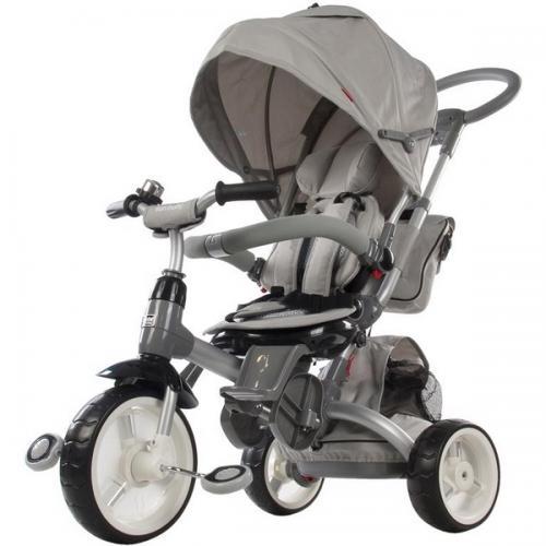 Tricicleta cu sezut reversibil sun baby 007 little tiger - grey - Plimbare bebe - Triciclete copii