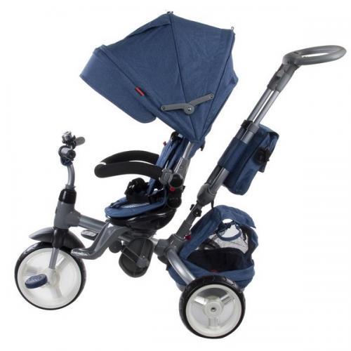 Tricicleta cu sezut reversibil sun baby 007 little tiger - melange blue - Plimbare bebe - Triciclete copii