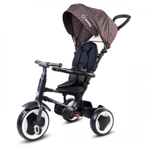 Tricicleta cu sezut reversibil sun baby 013 qplay rito - brown - Plimbare bebe - Triciclete copii