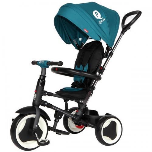 Tricicleta cu sezut reversibil sun baby 013 qplay rito - green turquoise - Plimbare bebe - Triciclete copii
