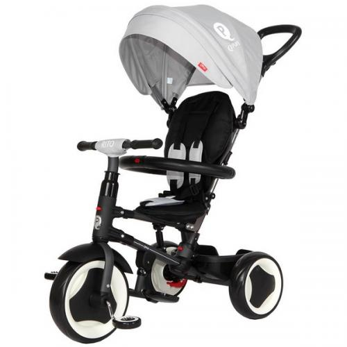 Tricicleta cu sezut reversibil sun baby 013 qplay rito - grey - Plimbare bebe - Triciclete copii