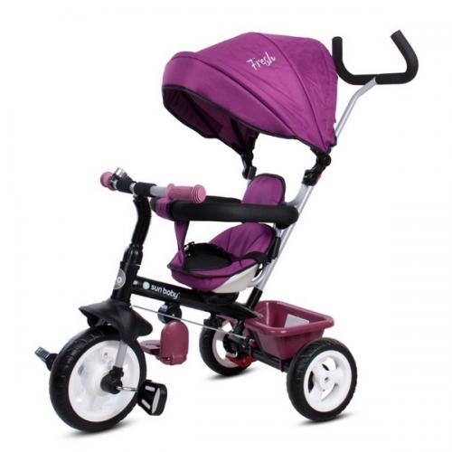 Tricicleta cu sezut reversibil sun baby 017 fresh 360 - burgundy - Plimbare bebe - Triciclete copii