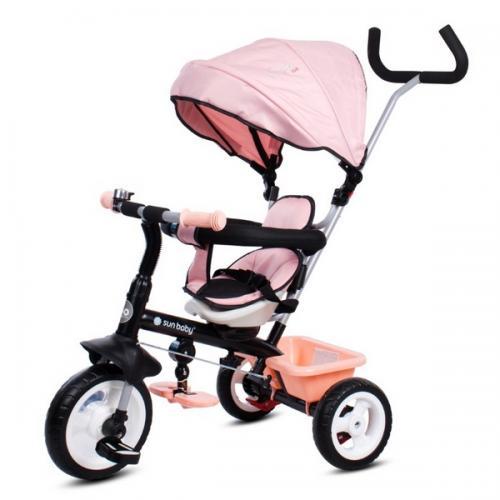 Tricicleta cu sezut reversibil sun baby 017 fresh 360 - pink - Plimbare bebe - Triciclete copii